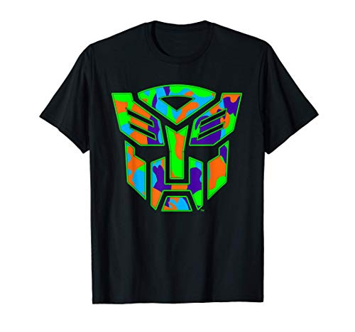 US Transformers + Logo Autobot Neon Camo 01 T-Shirt
