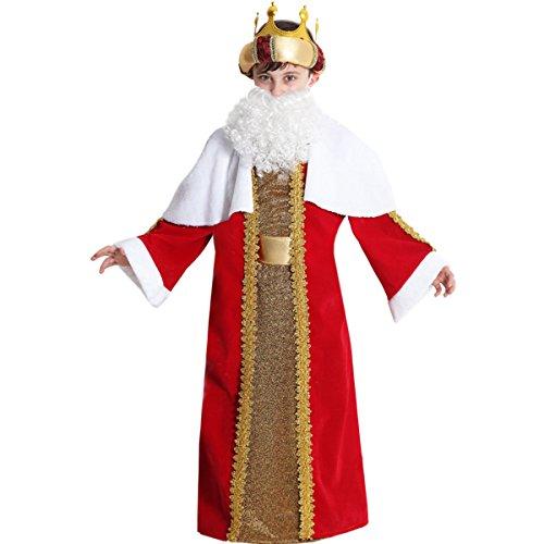 VESTITO COSTUME Maschera di NATALE- RE MAGI - GASPARE bimbo - Taglia 5/6 anni - 99 cm
