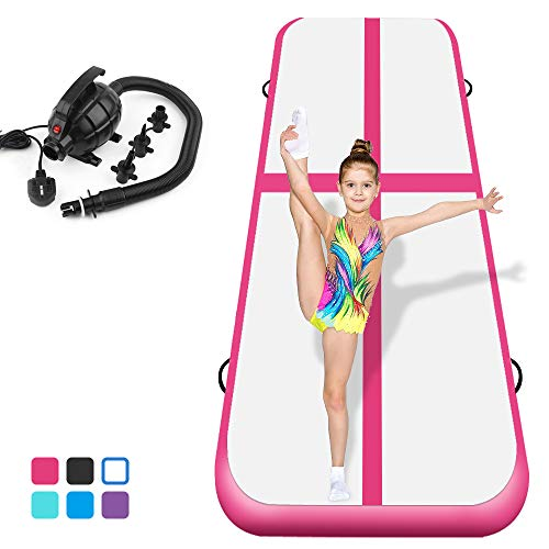 Air Track Tumbling Mat for Gymnastics Inflatable Gymnastics Airtrack Floor Mats for Home use Cheer...