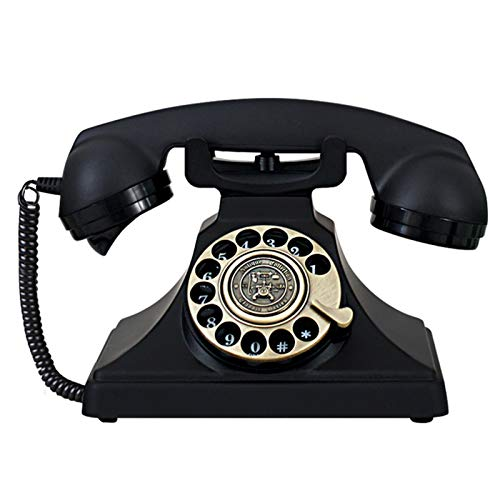 zhangmeiren Teléfono Metálico Tono Antiguo De Tono De Llamada, Vintage Turntable Versión De Lujo del Asiento Completo De Metal Completo