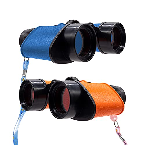 12 Pack - Toy Binocular for Kids Party Favors, Novelty Binoculars for Birdwatching and Outdoors- Assorted Colors