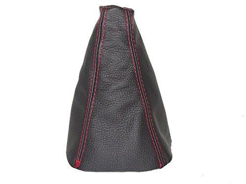 Für Hyundai i102007–14Schaltsack schwarz Italienisches Leder Naht Rot