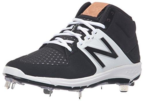 New Balance Men's L3000V3 Baseball Shoe, Black/White, 44 EU