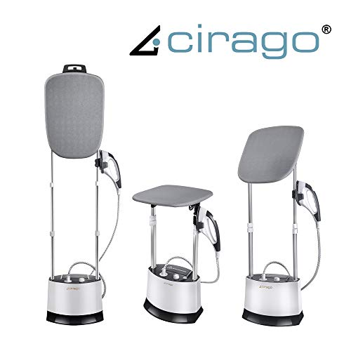 Cirago All in One Iron and Steamer, Clothes Steamer with 360 Degrees Adjustable Smart Board, 4 Level Steam Adjustment…