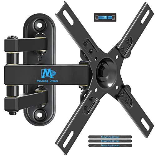 Mounting Dream TV Wall Mount Full Motion for Most 17-39 Inches LED LCD TV/Monitor, Computer Monitor Mount with Articulating Arms, up to VESA 200x200mm and 33 lbs, TV Mount Tilt and Swivel MD2463-L