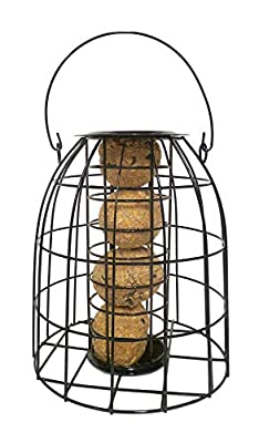 Honeyfield's Marriages Wild Bird Squirrel proof Fatball feeder, Black by Marriages Specialist Foods ltd