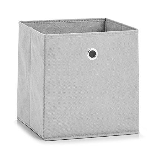 Zeller 14422 Aufbewahrungsbox, Vlies, Hellgrau, ca. 28 x 28 x 28 cm