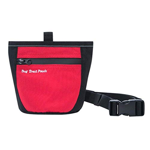 Dog Treat Pouch for Training Doggie Puppy Treat Snack Bags Reward Pouch Bait Bag Dog Treat Carrier Holder with Clip Waist Belt Magnetic Opening