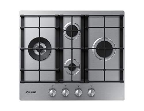 Samsung NA64H3031BS Gasfornuis, zwart, roestvrij staal, kookplaat (gasfornuis, roestvrij staal, zwart, roestvrij staal, 1000 W, rond)