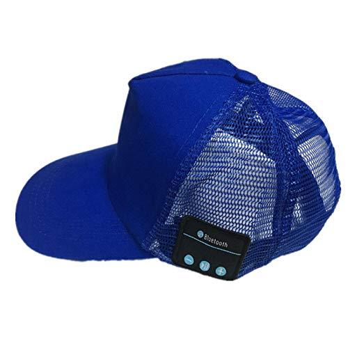 GUOJIAYI Transpirable parasol de los deportes de la tapa de los auriculares Bluetooth de la llamada de la música sombrero de verano al aire libre montañismo red cap