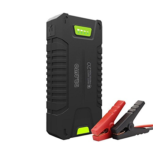 1000A Peak Current 20000mAh 12-Volt Portable Car Jump Starter (Fully Support Gasoline Vehicle, Up to 8.0L Diesel Engine) Battery Booster Power Bank With LED Emergency Flashlight by Dr.Auto (20000mAh)