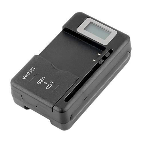 frYukiko Universal-Akku-Ladegerät für Mobiltelefone, LCD-Anzeige, mit USB-Ladegerät für die meisten Lithium-Ionen-Akkus