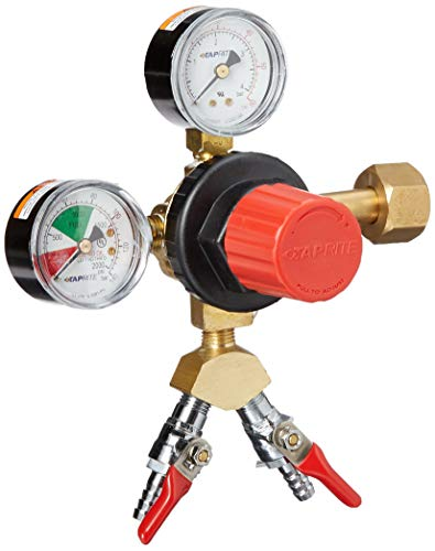 Taprite 2 Product High Volume Primary CO2 Regulator-Polycarbonate Body, Brass