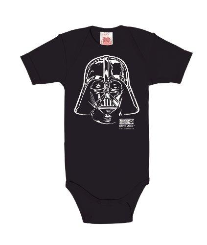 Logoshirt Star Wars - La Guerre des Étoiles - Dark Vador - Darth Vader Portrait Body pour bébé - Gigoteuse - Bleu foncé - Design Original sous Licence, Taille 98/104, 2-4 Ans