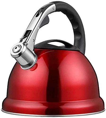 Creativo Caldera de gas de acero inoxidable portátil estufa de inducción Cocina hogar hervidor silbato espesar gran capacidad