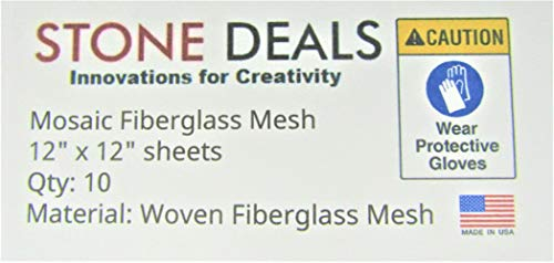 """Stone Deals Mosaic Mesh for Back Mounted Tile 12"""" x 12"""" (Ten Sheets), Non Sticky"""