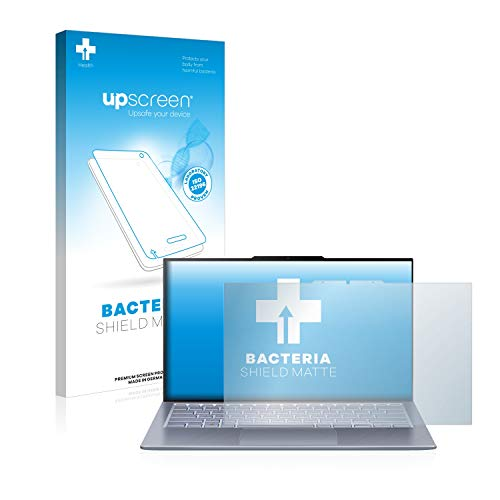 upscreen Antibakterielle Entspiegelungs-Schutzfolie kompatibel mit Asus ZenBook S13 UX392FN - Anti-Reflex Bildschirmschutzfolie matt, Anti-Fingerprint