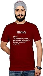 Men's Funny T Shirt Physics Noun Tshirt Collage Boy Funny Slogan Printed Tshirts Collage Graphic Tee Shirt