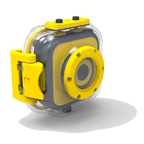 HANQING Cámara de acción Full HD 1080P A Prueba de Agua Cámara bajo el Agua Buceo Cámara Deportiva con Accesorios de Montaje,Yellow