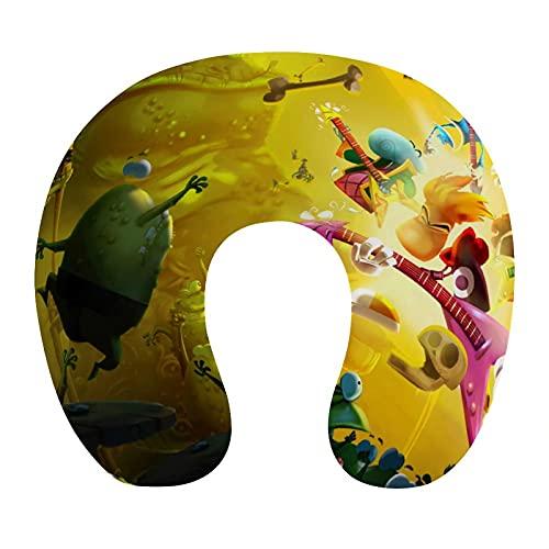 Rayman Legends Almohada de viaje cervical en forma de U, respaldo de avión, siesta de cuello para coche, regalo de mamá y papá