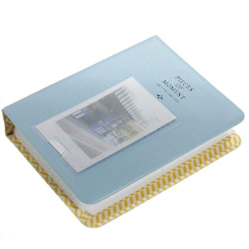 Depory Minialbum für Polaroid-Foto-Fotos FujiFilm Instax-Filmgröße, 64 Fächer, Blau
