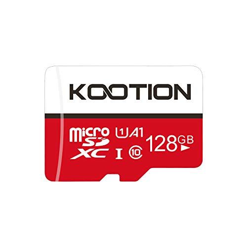 Kootion 128GB SD Karte Class 10 Micro SD Card 128G Speicherkarte MicroSDXC Card Mini SD Karte Memory Card Klasse 10(A1 UHS-I U1) Speicher SD Karte für Kameras Handy Tablets Android Smartphones