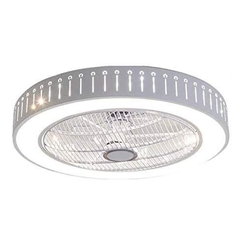 Ventilador de techo con iluminación Ventilador de techo con iluminación LED Ventilador de techo de 40 W, Regulable con control remoto 3 archivos Ventilador de luz de techo con hoja de acrílico invisi