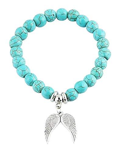 Vrouw en man - man armband - tibetaans - armband - boeddhist - etnisch - hanger - boeddha - engel - vleugels - zilver - origineel cadeau idee