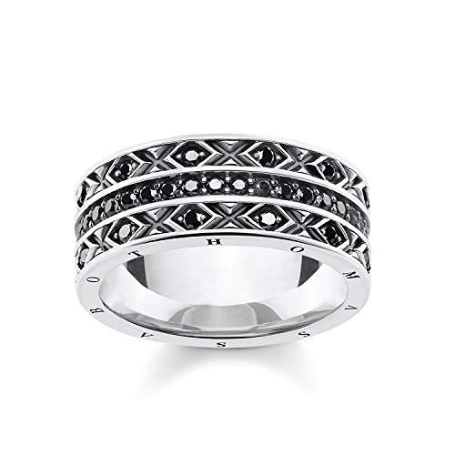 THOMAS SABO Damen Ring asiatische Ornamente 925 Sterlingsilber, Geschwärzt TR2170-643-11