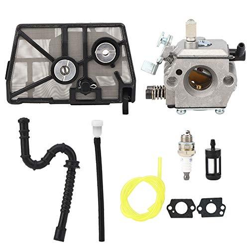 Kit de carburador, carburador de aluminio fundido a presión para motosierra Stihl 028 con kit de carburador Accesorios