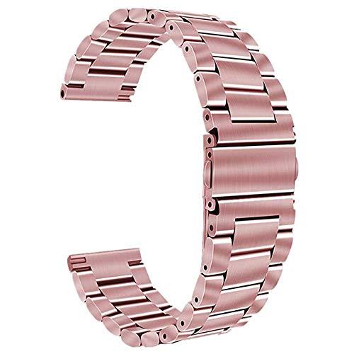 Cinturino di ricambio per orologio da polso in acciaio inossidabile, a sgancio rapido, per uomo e donna