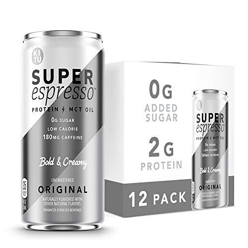 Kitu Super Espresso, SugarFree Keto Coffee Cans (0g Sugar, 5g Protein, 35 Calories) [Original] 6 Fl Oz, 12 Pack | Iced Coffee, Canned Coffee - From the Super Coffee Family