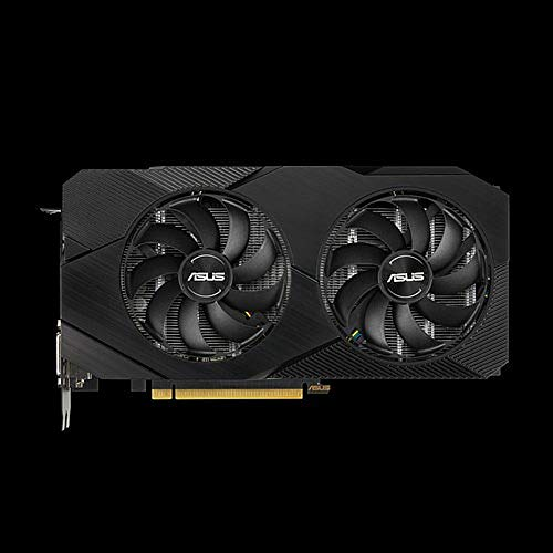 ASUS GeForce RTX 2060 Advanced Overclocked 6G GDDR6 Dual-Fan EVO Edition VR Ready HDMI DisplayPort DVI Graphics Card (DUAL-RTX2060-A6G-EVO)