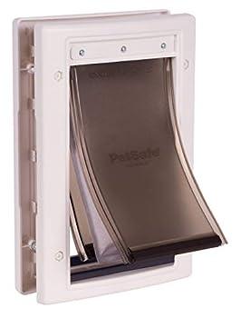 PetSafe - Porte pour Animaux pour Conditions Climatiques Extrêmes - Très Isolante - Triple protection Contre le Froid et le Chaud, avec panneau de fermeture – Petite taille S