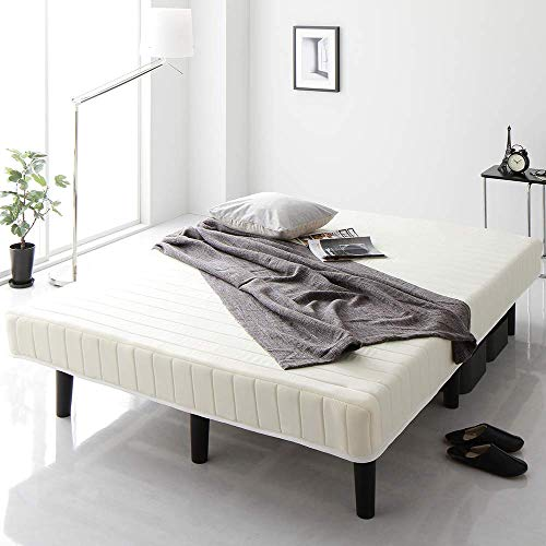 ベッド 脚付きマットレス ホワイト セミダブル 通常丈 ボンネルコイル コンパクト圧縮 梱包 搬入 簡単 20cm 高脚 ハイタイプ マットレスベッド