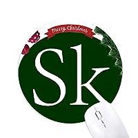 通貨記号スロバキアコルナSkk クリスマスツリーの滑り止めゴム形のマウスパッド