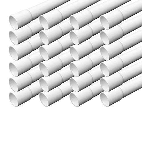 Elektrorohr M20 Stangenrohr 24 m Leerrohr PVC gemufft Installationsrohr ARLI 20 mm Rohr Kanal