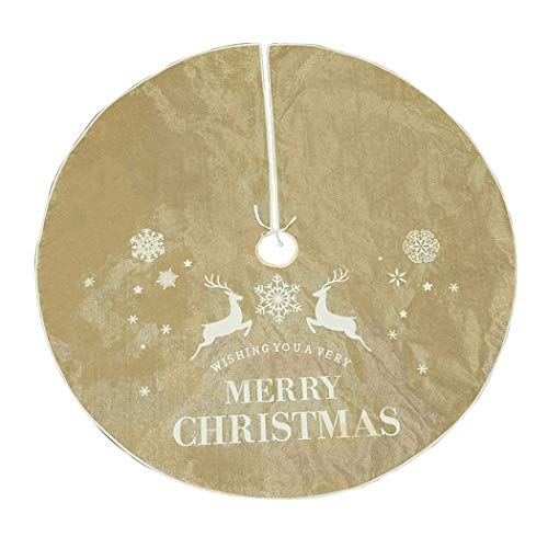 SDSQSCL Albero di Natale di Gonne Cartoon Stampa Natale Elk Pattern Albero di Natale Decorazioni Anno Xmas Party Casa Vacanze Decorazioni