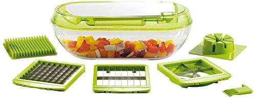 Kitchen Artist MEN318 Coupe fruits et légumes 3 grilles, Vert Translucide/Blanc