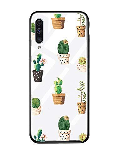 Alsoar Case ersatz für Samsung A20e Hülle Transparent Silikon Handyhülle Durchsichtig Antikratz Schutzhülle,Gehärtetem Glas Rückseite mit Soft Rahmen Tier Süß Shell für Galaxy A20e (Grüne Pflanze)