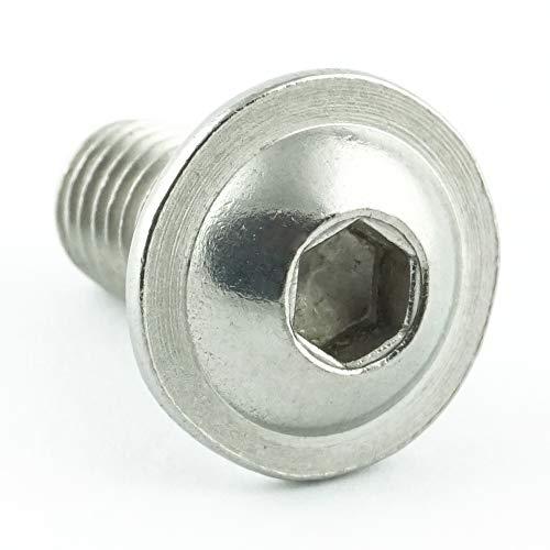 Eisenwaren2000 | M4 x 25 mm Linsenkopfschrauben mit Innensechskant und Flansch (100 Stück) - ISO 7380 Linsenkopf Schrauben mit Flachkopf und Bund - Gewindeschrauben - Edelstahl A2 V2A - rostfrei