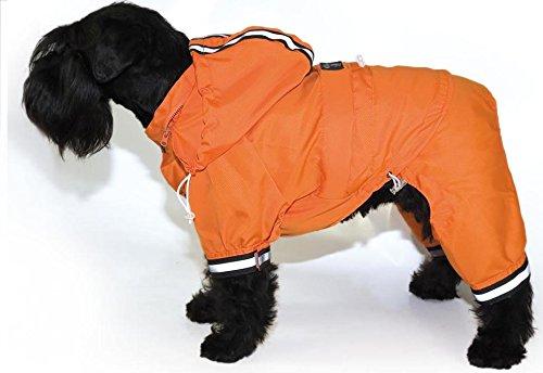 Pienso Mascotaplanet.Com - Chubasquero Naranja Para Perros Reflectante