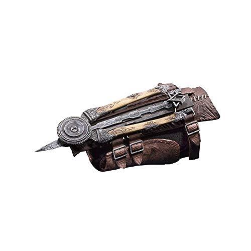 Assassin'S Creed Accesorios de Armas de Juego de rol de Cuchillas Ocultas Hoja Oculta 1: 1 Sword Blade Prop Pulsera eyectable
