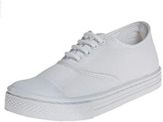 Liberty Boy's Lace Up White School Shoe