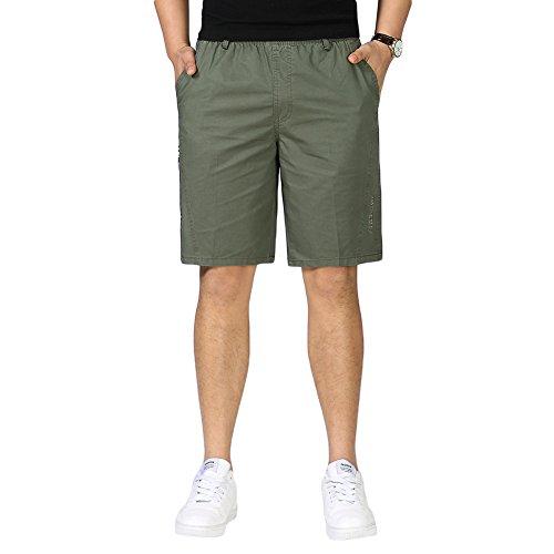 SK Studio Pantalones Cortos,Hombre Trabajo Bermudas Cargo Shorts Deporte Tallas Grandes Patalón Vestir Cortos con Bolsillos Verano