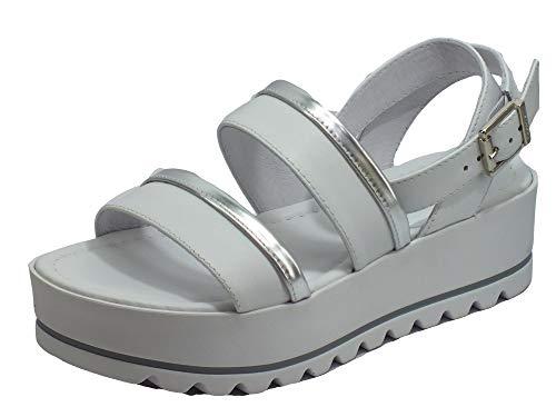Sandalo da Donna NeroGiardini in Pelle Bianco E012582D. Scarpa dal Design Raffinato. Collezione Primavera Estate 2020. EU 38