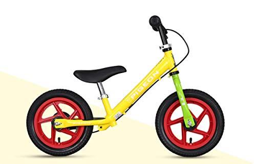 RCIN Balance Bike 2 3 4 5 6 Year Old,Boys Girls No Pedal Toddler Bike Adjustable Handlebars Seat Alloy Frame 2 Wheels Kids Bicycle Best Birthday Present -Yellow
