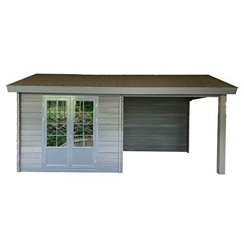 HORI® Gartenhaus Fenster Holz I Gerätehaus aus WPC...