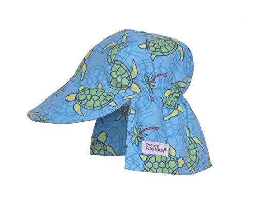 Flap Happy Baby Flap Hat, Turtle Island, Medium (6-12m)