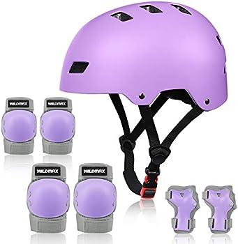 WILDMAX Adjustable Helmet with Elbow Knee Wrist Pads